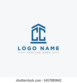 logo design inspiration for companies from the initial letters of the CC logo icon. -Vector