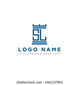 logo design inspiration for companies from the initial letters of the SL logo icon. -Vector