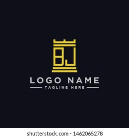 logo design inspiration for companies from the initial letters of the BJ logo icon. -Vector