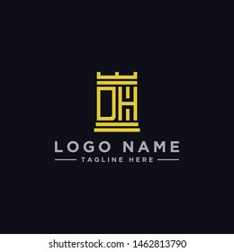 logo design inspiration for companies from the initial letters of the DH logo icon. -Vector