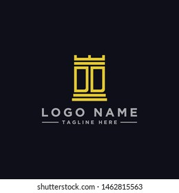 logo design inspiration for companies from the initial letters of the DD logo icon. -Vector
