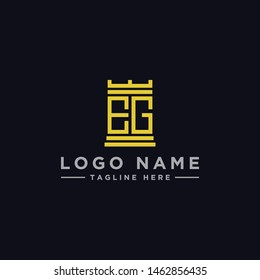 logo design inspiration for companies from the initial letters of the EG logo icon. -Vector