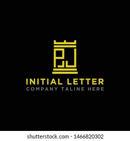 logo design inspiration for companies from the initial letters of the PJ logo icon. -Vector