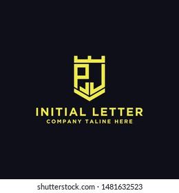 logo design inspiration, for companies from the initial letters of the PJ logo icon. -Vectors