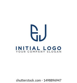 Logo design, Inspiration for companies from the initial letters of the EJ logo icon. -Vectors