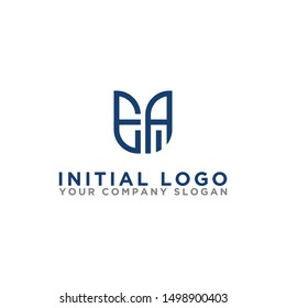 Logo design, Inspiration for companies from the initial letters of the EA logo icon. -Vectors