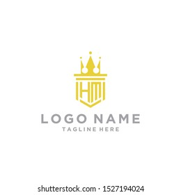 logo design inspiration for companies from the initial letters of the HM logo icon. -Vector
