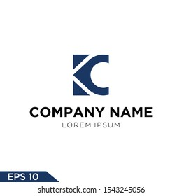 Logo design Inspiration for companies from the initial letters logo  KC and K icon map