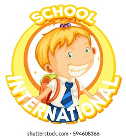 Logo design for international school illustration