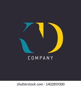 Logo design KD. Monogram logo. Company logo.