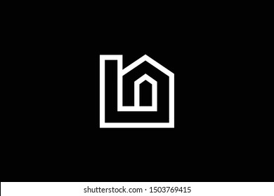 Logo design of L LN NL in vector for construction, home, real estate, building, property. Minimal awesome trendy professional logo design template on black background.