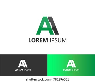 logo design letter AA, double A