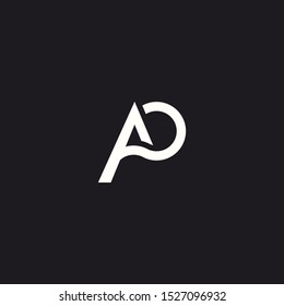 Logo Design Letter AP, Concept Letter A + P. Simple Symbol Vector Eps 10.