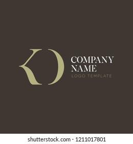 Logo design letter K N D