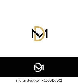 LOGO DESIGN WITH LETTER M & D