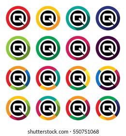 logo design letter Q , colorful