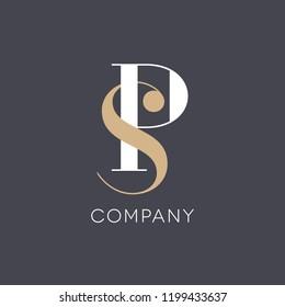 Logo design letter S P