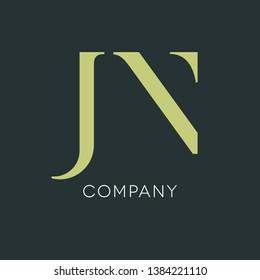 Logo design for letters J and N. JN logo