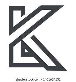 logo design lk initial letter