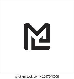 logo design M and L line