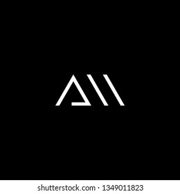 Logo design of M AM MA in vector for construction, home, real estate, building, property. Minimal awesome trendy professional logo design template on black background.