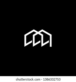 Logo design of M ML LM in vector for construction, home, real estate, building, property. Minimal awesome trendy professional logo design template on black background.