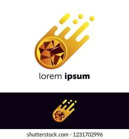 Logo design. Meteorite concept icon