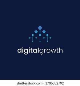 logo design modern advanced digital growth technology