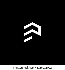 Logo design of P in vector for construction, home, real estate, building, property. Minimal awesome trendy professional logo design template on black background.