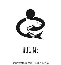 Logo design. Preserve fish concept, vector illustration