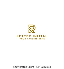 Logo Design R. Initial Letter. - Vector