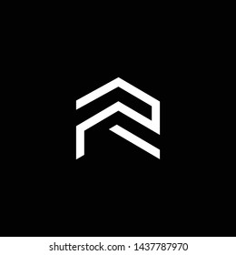 Logo design of R PR RP in vector for construction, home, real estate, building, property. Minimal awesome trendy professional logo design template on black background.