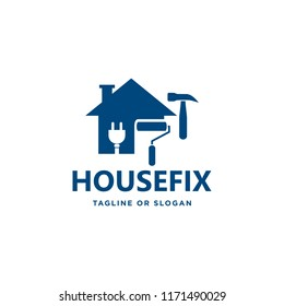 Logo design related to house repair, remodeling or painting