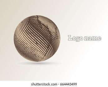 Logo design. Round shape. Vector illustration.