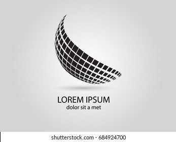 Logo design. Round shape. Vector illustration.