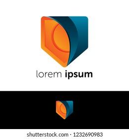 Logo design. Safe abstract concept icon