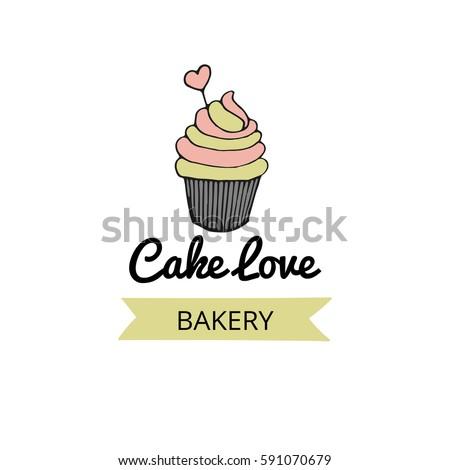 Logo Design Small Bakery Vector Cup Stock Vector Royalty Free