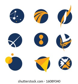 logo design space, flights and universe