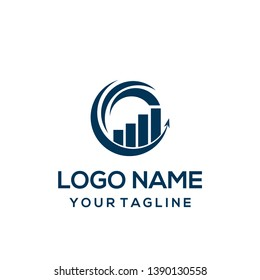 Logo design or symbol for business consulting company, or accounting financial