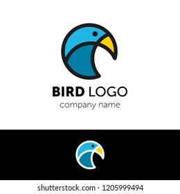 Logo design template. Creative bird vector icon