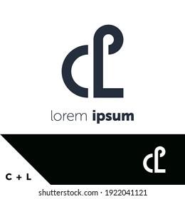 Logo-Design-Vorlage. Konzept Buchstaben C und L. Kreative Monogramm-Inspiration. Monogramme werden oft durch die Kombination der Initialen einer Person oder eines Unternehmens hergestellt, die als erkennbare Symbole oder Logos verwendet wird.