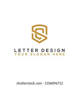 Logo design template Letter SC. - Vector