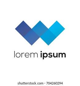 Logo design template. Letter W concept. Creative vector icon