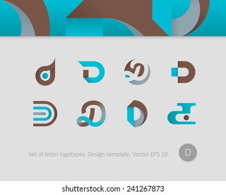 Logo design templates. Stylized letter D.