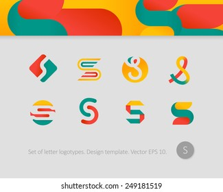 Logo design templates. Stylized letter S.