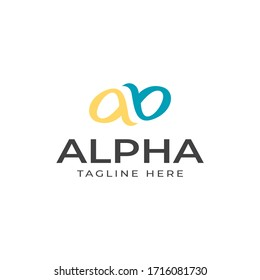 Logo Design Templates for your Business, Modern and Creative Designs, Alpha or Alphabet Vector or Initials of Letter AB