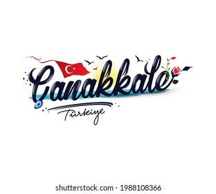 """Logo design with """"Çanakkale Turkiye"""" text"""