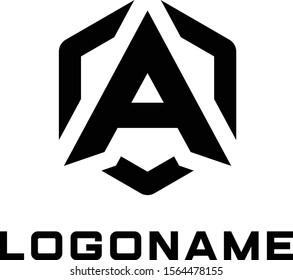 LOGO DESIGN typography A For team