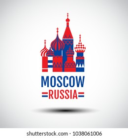 logo design , vector icon, sign, Symbol,The Most Famous cathedral In Moscow, Saint Basil's Cathedral, Russia.