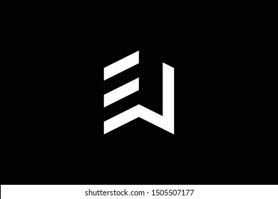 Logo design of W EW WE in vector for construction, home, real estate, building, property. Minimal awesome trendy professional logo design template on black background.